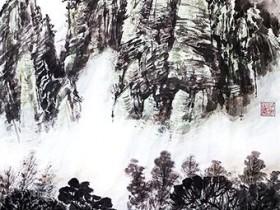 老春山水画作品(一)