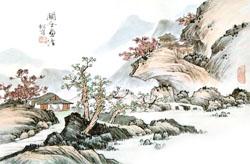 国画入门 零基础学国画第十五课 山水画临摹(中)