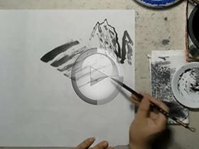 网上国画培训班录像片段